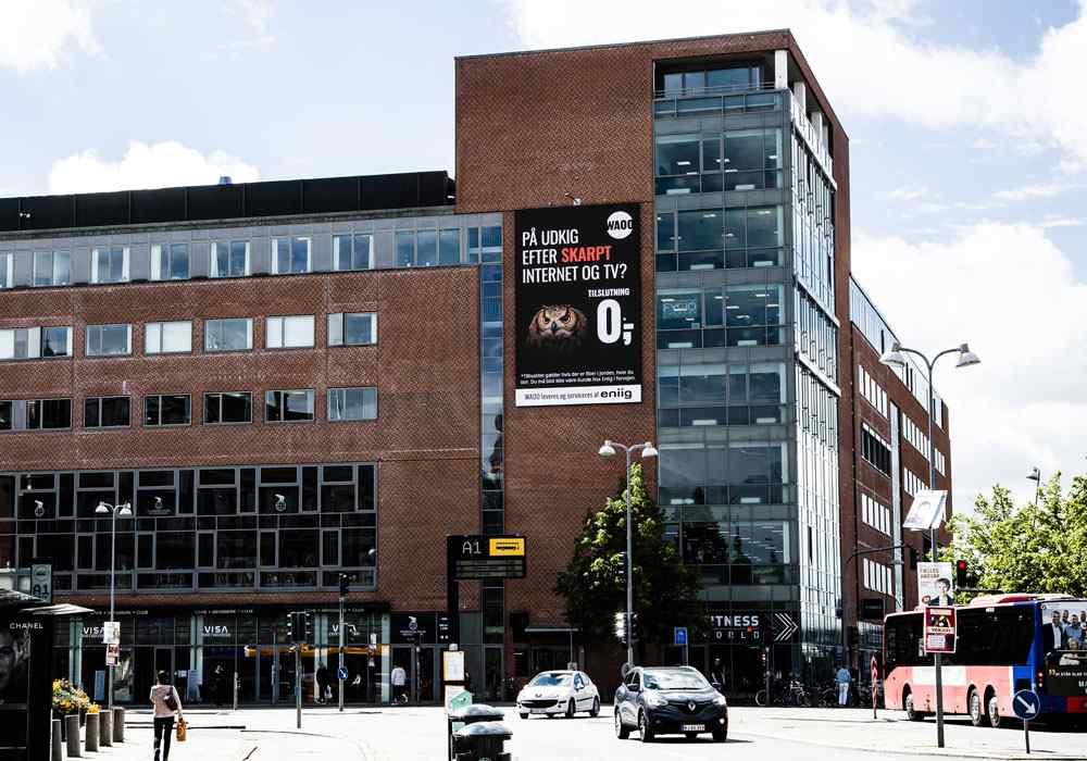 Digital reklame på Kennedy Arkaden i Aalborg