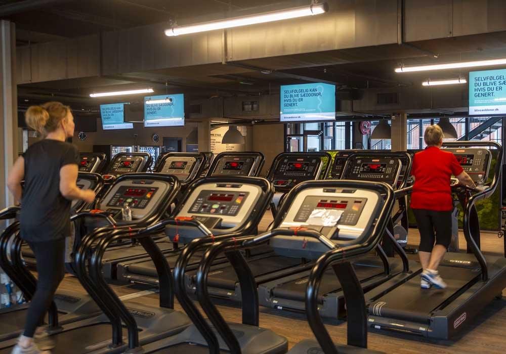 Reklame i fitness centre