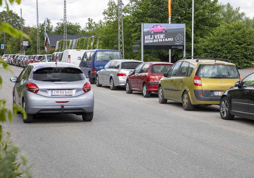 Digitale reklameskærme i trafikken