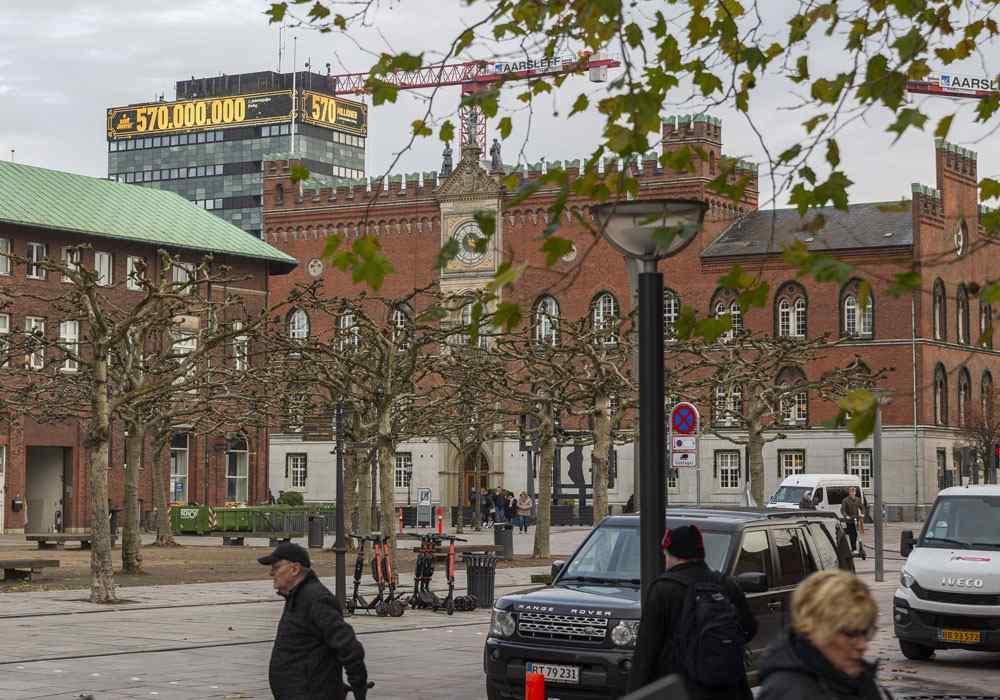 Stor lysreklame centralt i Odense