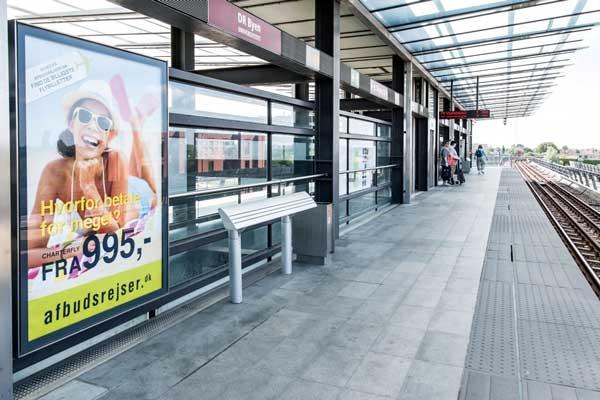 Reklamer på Metrostationer