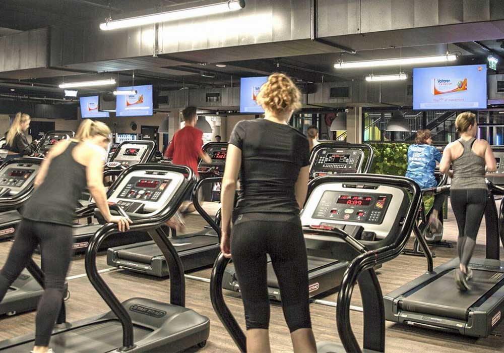 Skærme i fitnesscentre